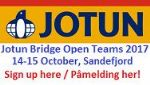 Jotun Bridge Open Teams og landskamper i Sandefjord